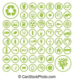 Ecology and Recycle icons EPS10