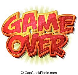 Game Over Icon For Ui Game - Illustration of a cartoon...