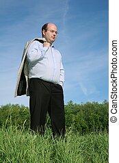 fat man grass