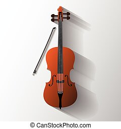 Cello vector symbol