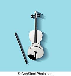 Violin vector symbol