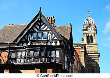 Tudor building, Derby. - The Royal Oak building (Formerly...
