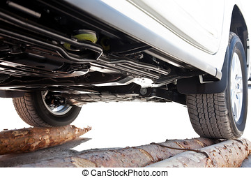View from the bottom of a car
