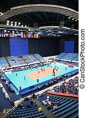 voleibol, juego, 2