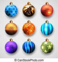 christmas balls design, this illustration may be useful as...