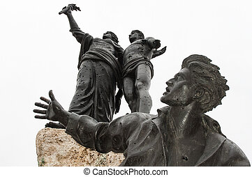 The Martyrs of Lebanon - The Monument of the Martyrs, heroes...