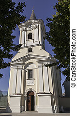 Podersdorf Church - Church in Podersdorf at Lake Neusiedl in...