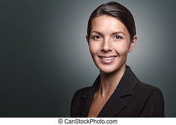 Businesswoman with an attentive expression - Attractive...