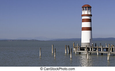 Podersdorf Lighthouse - Lighthouse in Podersdorf at Lake...