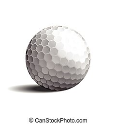 golf ball vector EPS10