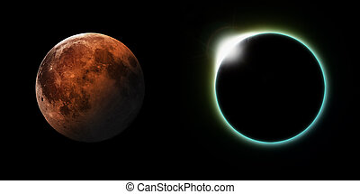 Solar and Lunar Eclipses - A total solar and Lunar eclipse...