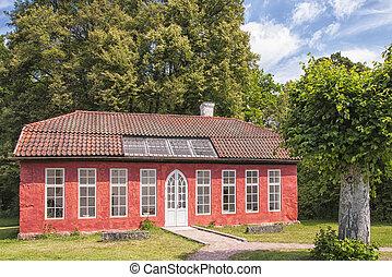 Hovdala Slott Orangery Building - The Orangery building on...