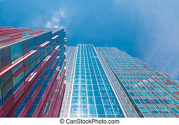 modern business center - facade of a modern office building...