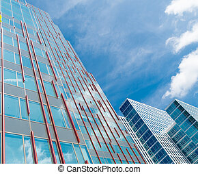 modern architecture - facades of modern office buildings in...
