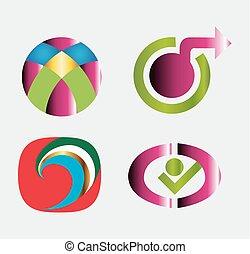 Abstract logo templates
