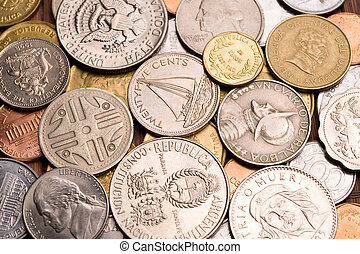 Background of coins.