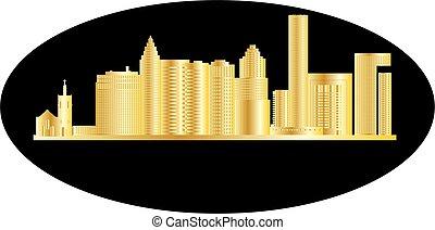 houston skyline - houston american city skyline