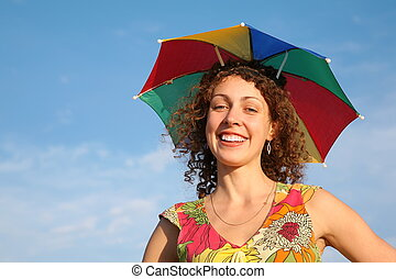 girl in the many-colored umbrella