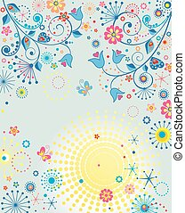 Summery colorful poster