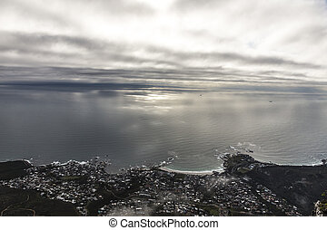 Cape town - Beautiful view of Cape Town at sunset with...