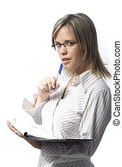 tagande, noteringen, sekreterare