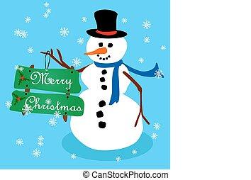 Snowman Christmas card-2