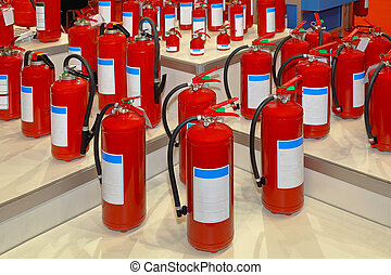 Fire extinguishers - Big collection of various fire...