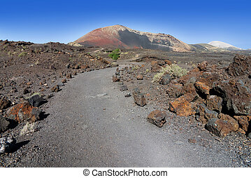 Educational trail at Montana Ortiz - Volcanic educational...