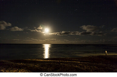 Moon light - light of the moon in a sky with clouds...