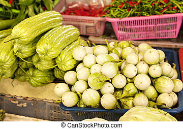 Thai vegetable market