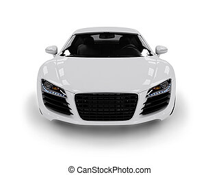 White modern car isolated on black background. isolated on...