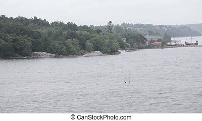 Gulf of Finland - View from side ferry at coast Gulf of...