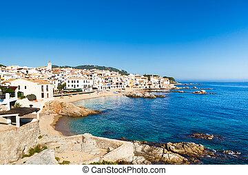 Costa Brava - Coastline of Calella de Palafrugell. Costa...
