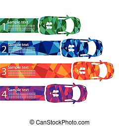 race car abstract