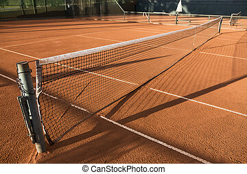 Clay (Dirt) Tennis Court. - Clay (Dirt) Tennis Court, under...