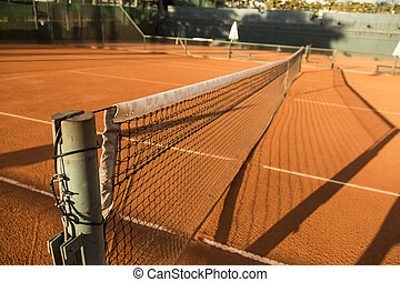 Clay Dirt Tennis Court - Clay Dirt Tennis Court, under the...