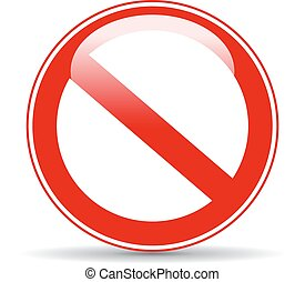 Blank restricted sign - Blank restricted glossy sign