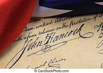 Constitution John Hancock - John Hancocks signature on the...