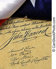 Constitution John Hancock - John Hancock's signature on the...