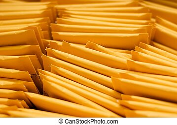 Pile of Mailing Envelopes-Close Up