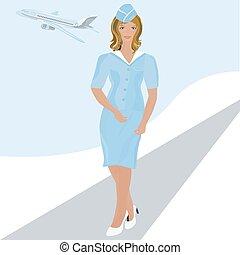 girl stewardess.