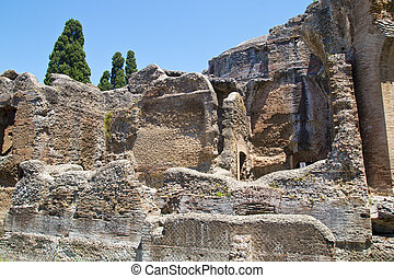 At Hadrians Villa - The ruins of the villa of the Roman...