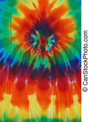 Colorful Tie Dye - Bright colored tie dye design on fabric