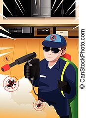 Exterminator man - A vector illustration exterminator man...