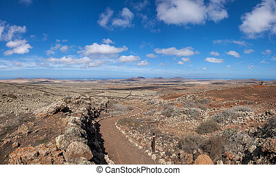 Fuerteventura - Hiking path GR131 - Review to Lajares on the...