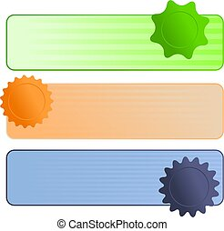 Stripy Web Banners - A set of three blank web page banners...
