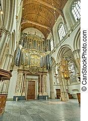 Church Interior - Interior of 15th century Nieuwe Kerk New...