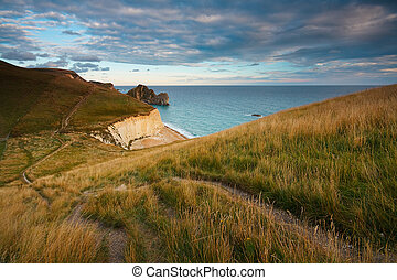 Jurassic coast in Dorset, UK - Durdle Door on Jurassic coast...
