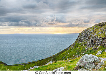 Neist Point Cliffs HDR - View onto the Atlantic Ocean west...
