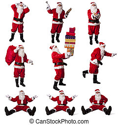 santa claus collection isolated